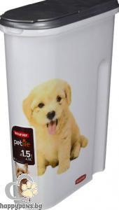 Curver - Food Box Litter контейнер за съхранение на суха храна, 1.5кг. , 4.5 Л