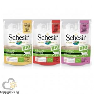 Schesir BIO Pauch - био храна различни вкусове, 85 гр.