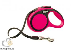 Flexi - Comfort М автоматичен повод за куче до 25 кг различни цвтове, лента 5 метра