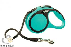 Flexi - Comfort L автоматичен повод за куче до 60 кг различни цвтове, лента 5 метра