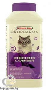 Versele Laga - Oropharma Deodo Odour Control Flower -деозодорант на прах за котешка тоалетна със свеж аромат лавандула, 750 мл