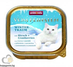 Vom Feinsten Winter патица и ябълка 100гр - за котки от всяка възраст и порода Лимитирана зимна серия