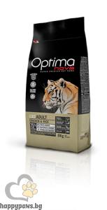 Visan Optima Cat Adult Chicken - супер премиум храна с чисто пилешко месо за котки над 12 месечна възраст, 8 кг.