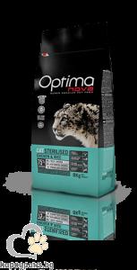 Visan Optima Cat Sterilised Chicken - супер премиум храна с чисто пилешко месо за кастрирани мъжки и женски котки над 12 месечна възраст, 8кг.