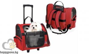 Camon - Многофункционална транспортна чанта за домашни любимци Макс, червена
