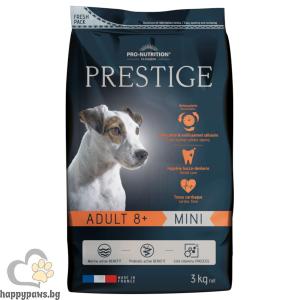 Flatazor - Prestige ADULT 8+ MINI, пълноценна храна за кучета от дребни породи на възраст над 8 години, различни разфасовки.