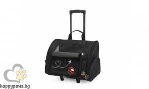 Camon - Многофункционална транспортна чанта за домашни любимци Макс, черна