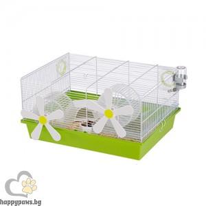 Ferplast Cage Milos Medium Flowers - клетка за хамстери с пълно оборудване