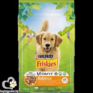 PURINA - FRISKIES BALANCE суха храна за кучета в зряла възраст, с пиле, 10 кг.