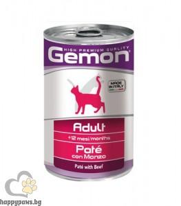 Monge Gemon Adult veal– пастет за котки в зряла възраст с говеждо 400 гр.