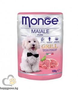 Monge Grill Chunkies with Pork - със свинско месо 100 гр.