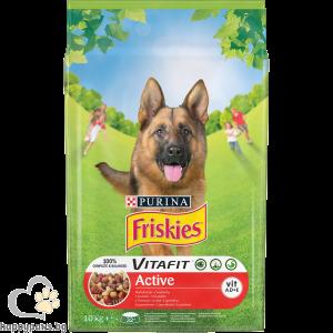 PURINA - FRISKIES ACTIVE суха храна за активни кучета, с месо, 10 кг.