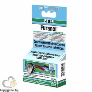 JBL Furanol Plus 250 - ефективен при лечение на Aeromonas, Pseudomonas, Columnaris, Flexibacter, Streptococcus бактерии и др. 20 таблетки