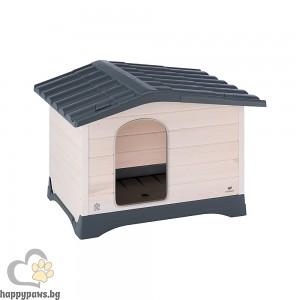 Ferplast Lodge - дворна къщичка, изработена от дърво и термопластична смола