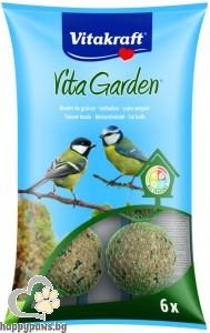 Vitakraft - Vita Garden - многокомпонентна храна за синигери и всички градински птици 6 броя топки