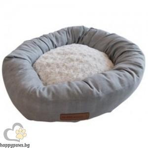 Кръгло легло Самоа, тъмно сиво - диаметър 55 см