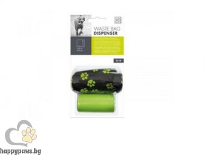 M-Pets Waste Bag with Soft Dispenser - мека чантичка за пликчета с 2бр ролки 23X35 cm