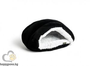 Agui Wave Bed - луксозно меко котешко легло хралупа 49 / 40 см. / черно, кафяво, червено /