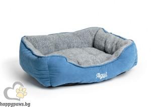 Agui Mountain Square Bed - луксозно меко легло / кафяво, синьо, червено /