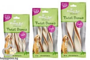 Planet Pet Duck twist bone - дентално лакомство с патешко месо, 14 см, 3 бр. /70 гр./