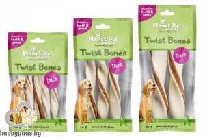 Planet Pet Duck twist bone - дентално лакомство с патешко месо, 16 см, 2 бр. /130 гр./