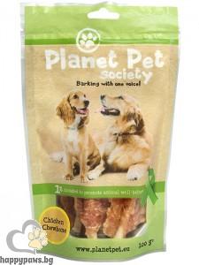 Planet Pet Chicken Chewbone - лакомство за кучета с пилешко от прясно месо, 1 кг.