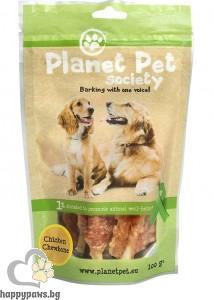 Planet Pet Chicken Chewbone - лакомство за кучета с пилешко от прясно месо, 100 гр.
