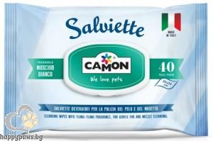 Camon - Мокри кърпички MUSCHIO BIANCO, 40 бр.