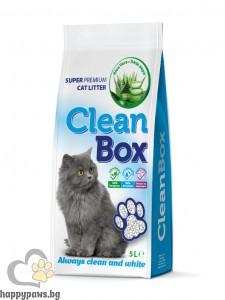 CleanBox - котешка тоалетна от бял бентонит с алое вера, 5 л.