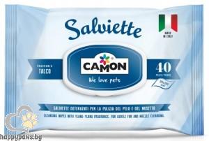 Camon - Мокри кърпи TALCUM, 40 бр.