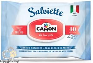 Camon - Мокри кърпи TEA TREE OIL, 40 бр.
