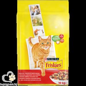 PURINA - FRISKIES Adult суха храна за котки в зряла възраст, различни вкусове, 10 кг.