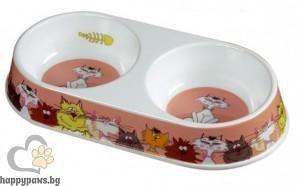 Camon - Двойна купа за хранене, за котки