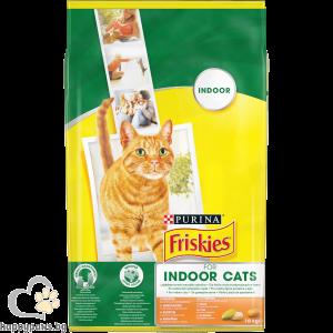 FRISKIES - INDOOR суха храна за котки в зряла възраст, с пиле и зеленчуци, 10 кг.