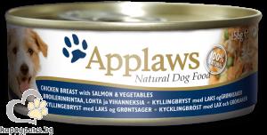 Applaws - консервирана храна за кучета над 12 месеца, различни вкусове месни хапки, 156 гр.