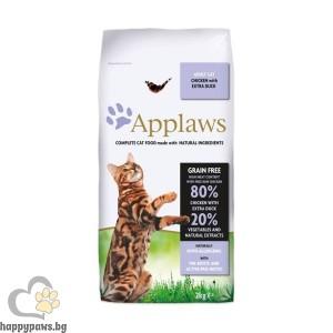 Applaws - Adult Chicken with Extra Duck суха, органична храна за котета над 12 месеца, с пилешко и патешко, 400 гр.