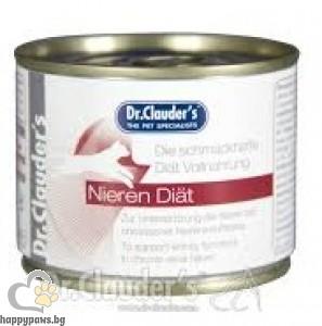 Dr. Clauders - Kidney Diet - терапевтична диетична храна за котки с хронична бъбречна недостатъчност, 200 гр.