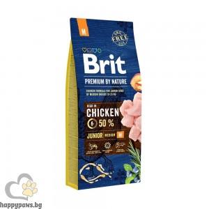 BRIT - PREMIUM ADULT M суха храна за кучета над 12 месеца, от средни породи