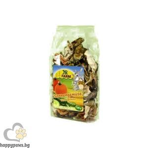 JR Farm - Сушени зеленчуци за гризачи, 80 гр