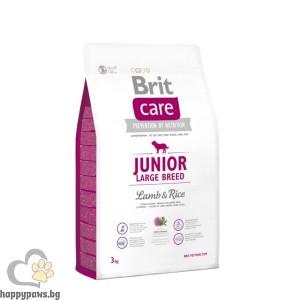 Brit - Care Junior Large Breed Lamb and Rice суха храна за кучета до 24 месеца, от големи породи, с агнешко и ориз