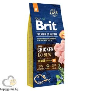 BRIT - PREMIUM JUNIOR M суха храна за кучета до 12 месеца, от средни породи