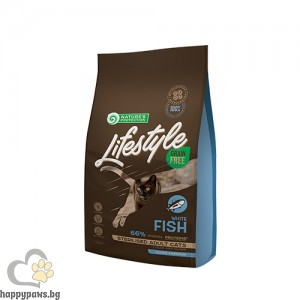 Nature's Protection Lifestyle - Grain Free Sterilised White Fish Adult Cat суха храна за кастрирани котки над 12 мес. без зърно и глутен, бяла риба, различни разфасовки