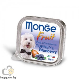 MONGE FRUIT Paté & Chunkies – Пастет и хапки, 100 гр, различни вкусове