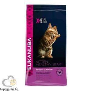 Eukanuba - Kitten Complete пълноценна храна за подрастващи, бременни и кърмещи от 1 до 12 месеца, различни разфасовки.