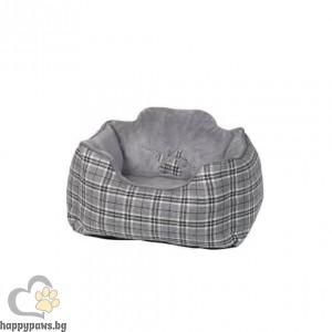 """Nobby - Меко правоъгълно легло """"KAPU"""", сиво, различни размери"""
