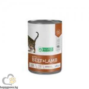 Natures Protection - Adult консервирана храна за котки над 1 година, различни вкусове, 400 гр.