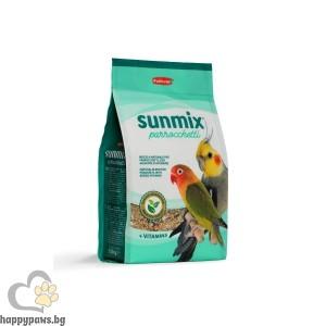 Padovan - SUNMIX PARROCCHETTI пълноценен фураж за малки дългоопашати и средни папагали, 750 гр