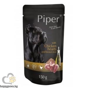 Piper Adult пауч пилешки сърца и кафяв ориз