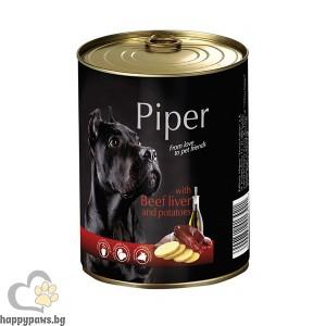Piper - Премиум консервирана храна за кучета, 400 гр, различни вкусове