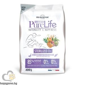 Pure Life Cat STERILIZED 8+, 400 гр